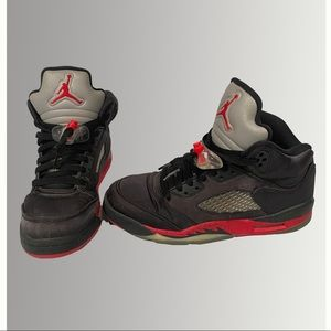 Size 6Y Air Jordan 5 Retro in 'satin'